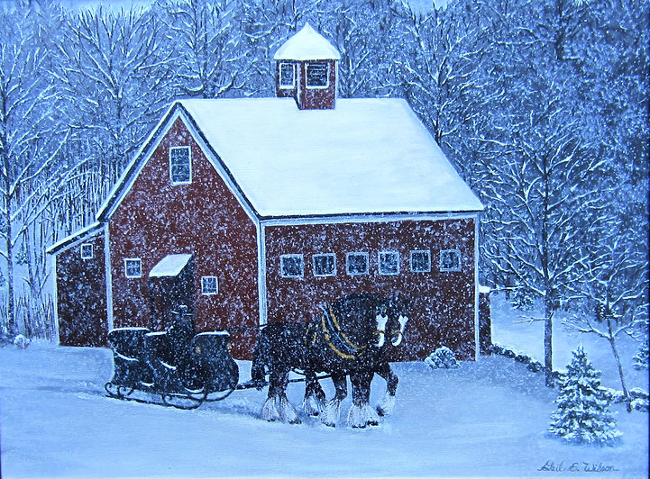 Winter, sleigh ride