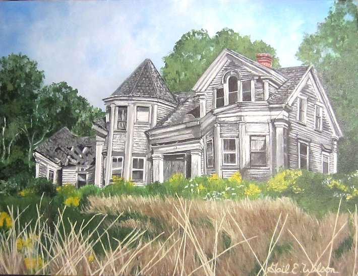 Dilapidated House, Haunted House, Maine