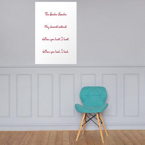 Poster: The Healer Speaks 8 RED