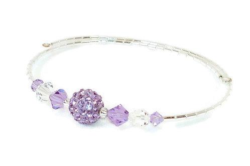 Lavender Crystal Bling Anklet