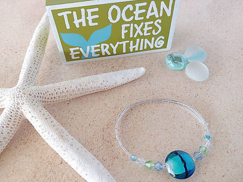 Wave Glass Anklet
