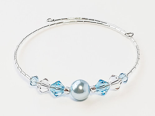 Light Blue Pearl Anklet / Bracelet