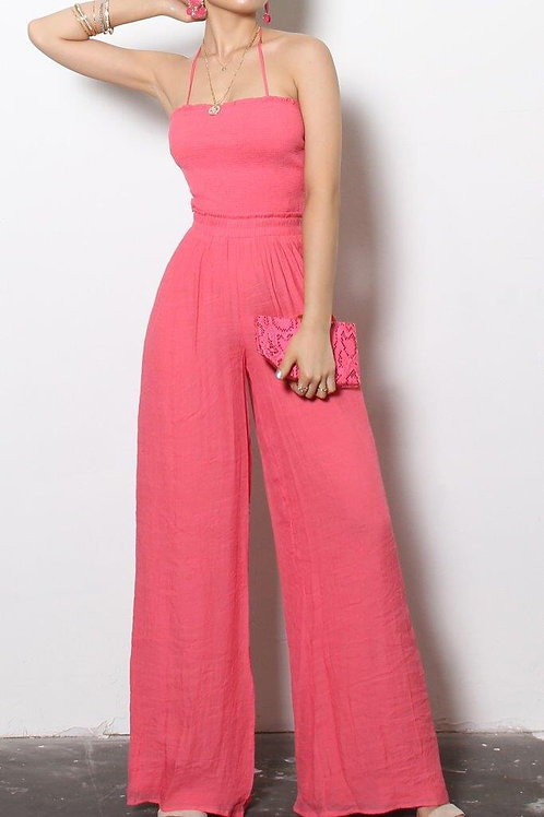 A TOUCH OF CORAL JUMPSUIT