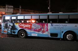 COLGATE FRESS BUS WRAP 2002