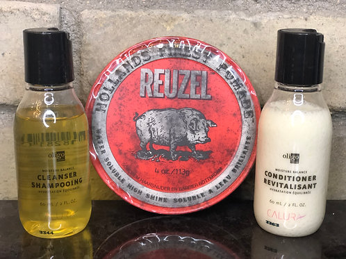 Mini Shampoo Set & Reuzel Gift Set