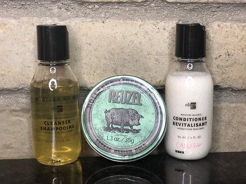 Mini Shampoo Set & Reuzel Gift Set