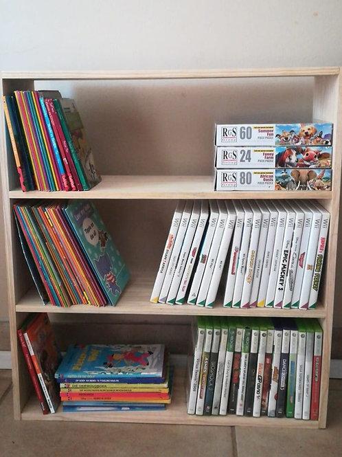 Kids bookshelf or games rack for room.