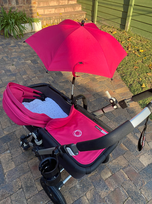 Bugaboo pram/stroller set with case and accessories
