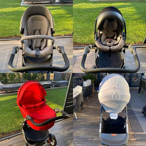 Stokke Trailz Pram with Bassinet and Car Seat