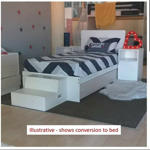 5 in 1 Cot (Coverts to 3/4 bed)