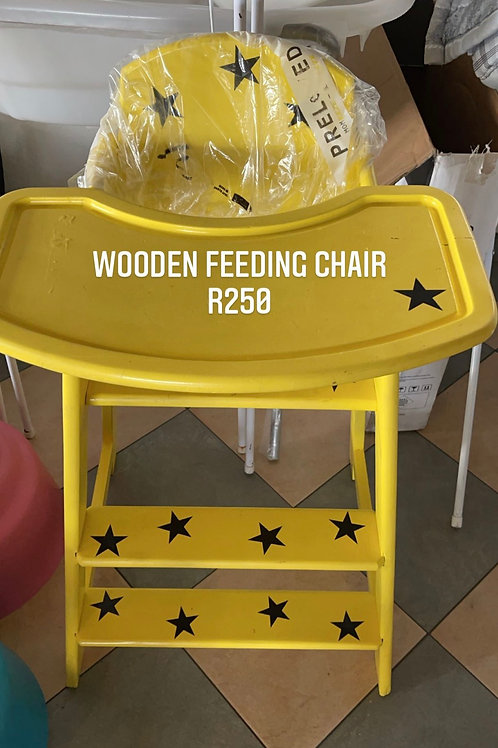 Wooden feeding chair
