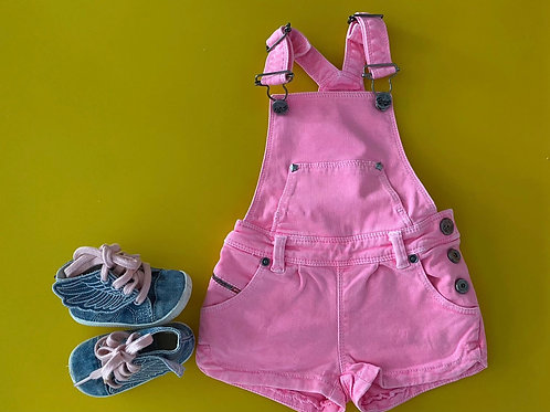 Diesel dungarees 6M & wings shoes size 2