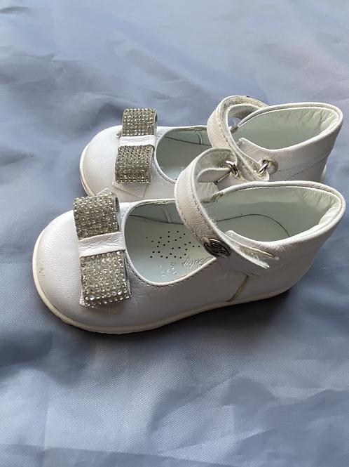 Blue Marine White Nappa Leather shoes