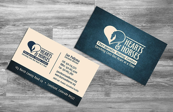 Hearts and Horses business cards