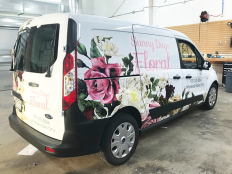 Sunny Days Florist vehicle wrap