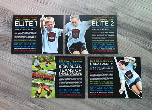 Core Soccer Academy postcards
