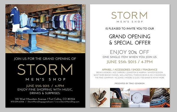 Storm Fine Apparel invitation