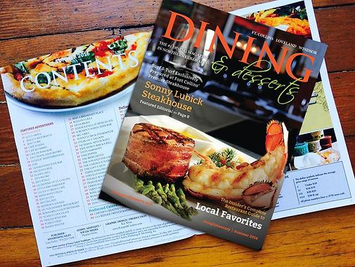 Dining and Desserts magazine