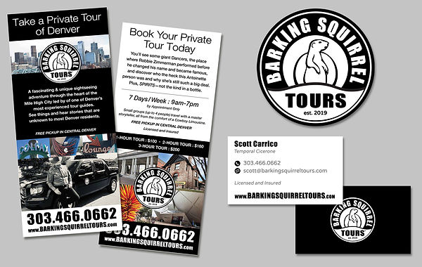 Barking Squirrel Tours, Denver, Colorado, Logo Design