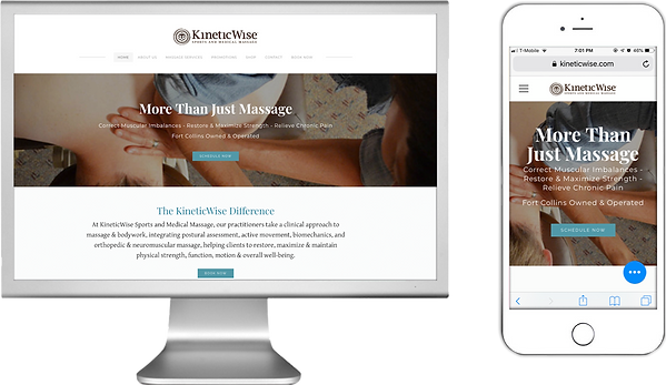 KineticWise Sports and Medical Massage website