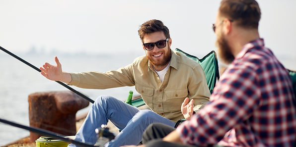 leisure and people concept - happy male
