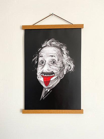 """Glossy Poster """"Albert Einstein"""" 11""""x17"""""""