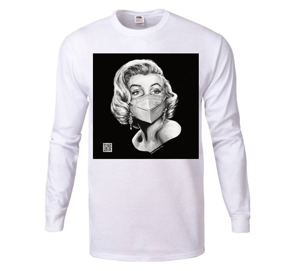 "Women's Long Sleeve T-shirt ""Marilyn Monroe"""