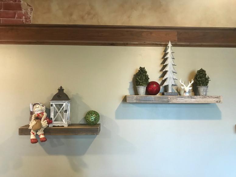 Seasonal Floating Shelves
