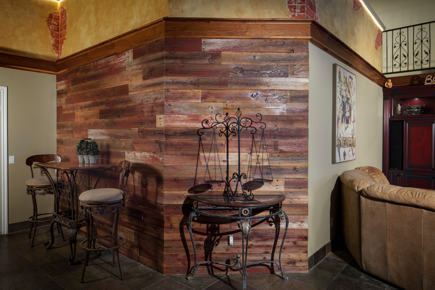 Poppa's Barn Living Room Feature Wall