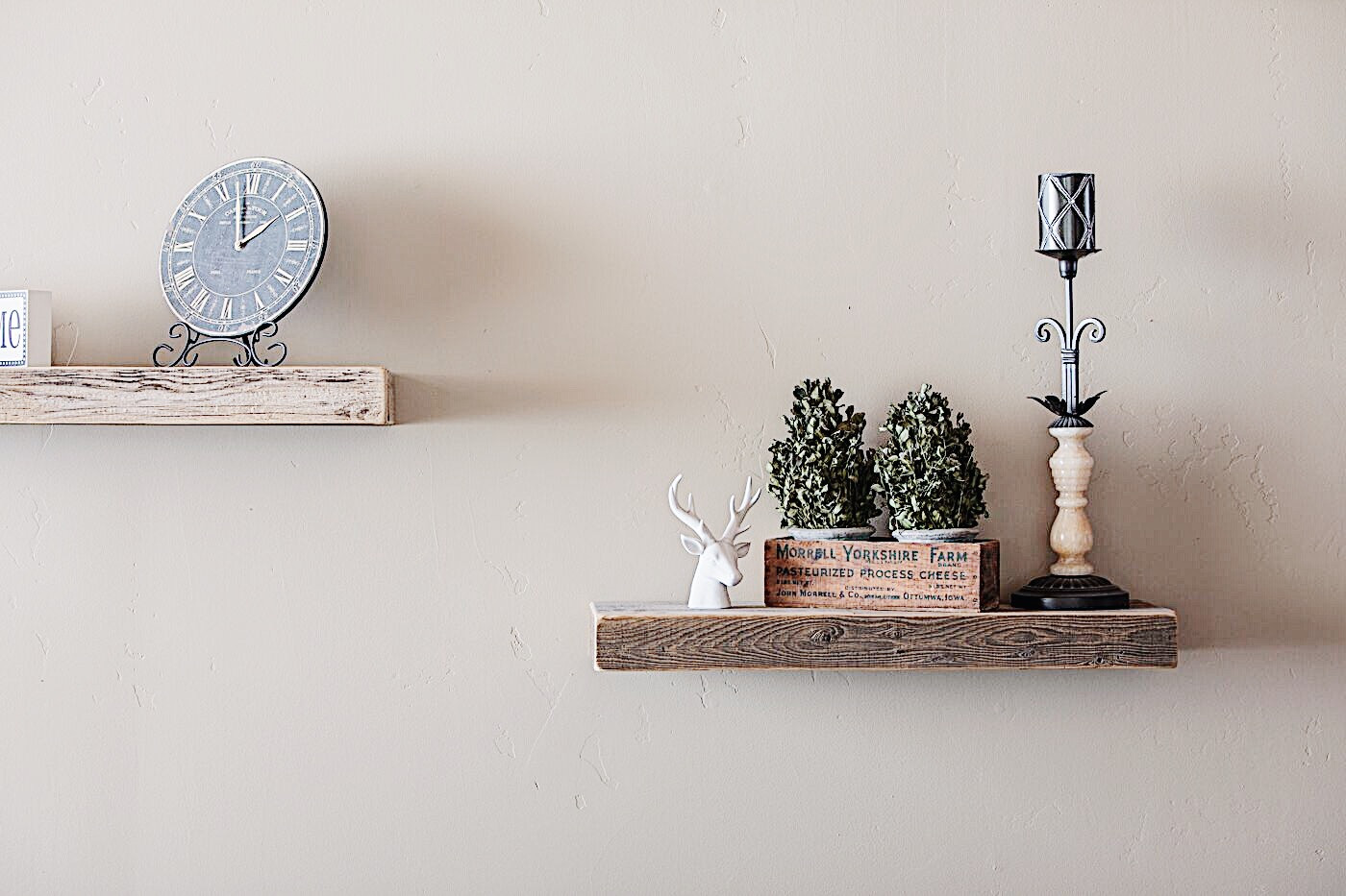 Sand & Stone Floating Shelves