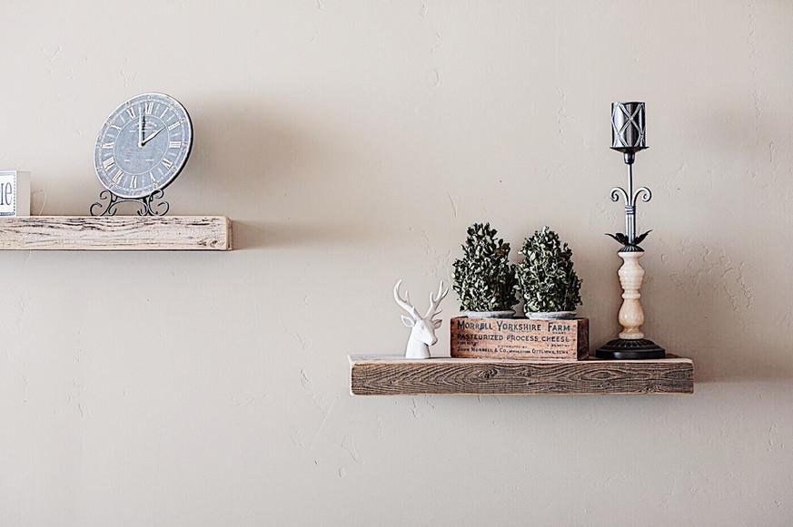Sand & Stone Floating Shelves