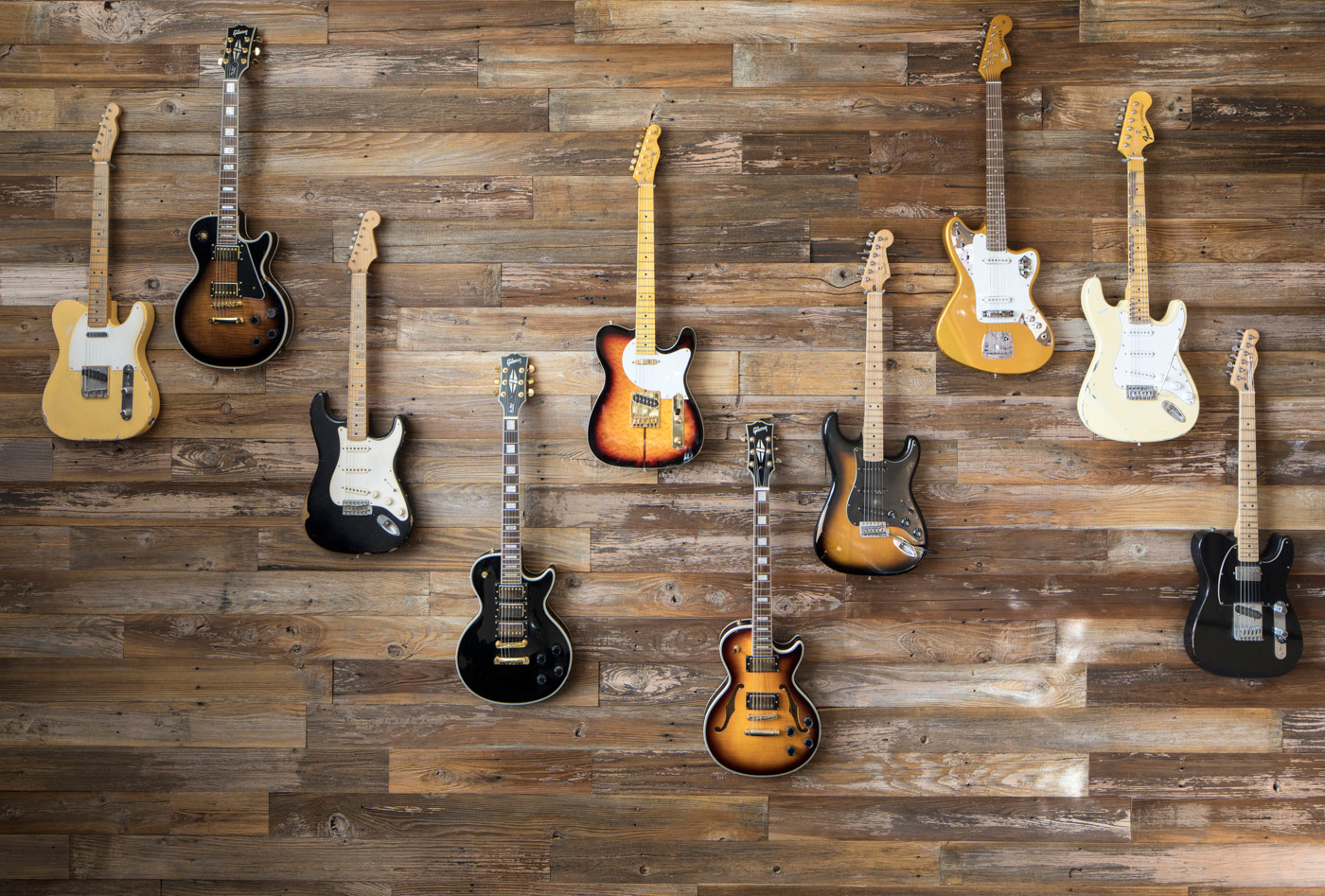 Sand & Stone Guitar Feature Wall
