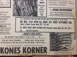 Old Newspaper ad Open 24 hours