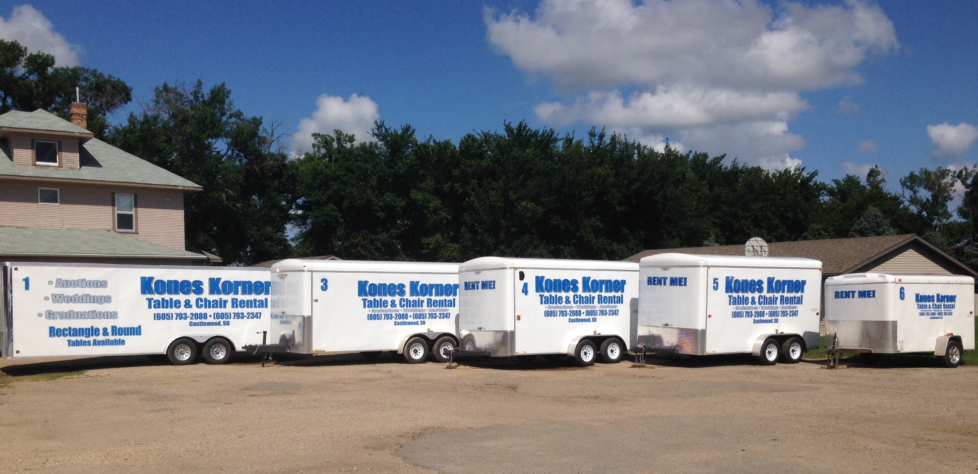 We rent just the trailers too!