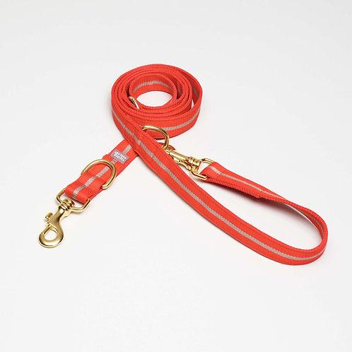 längenverstellbare Hundeleine orange, top dog cool cat, orange textile leash