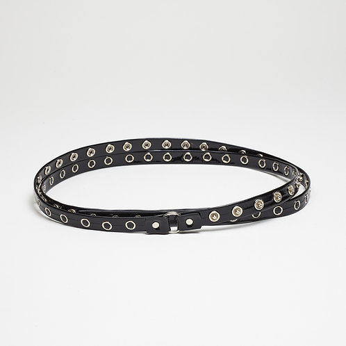 Patent Leather Studded Belt