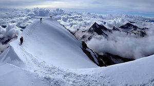 Weissmies Gipfelgrat