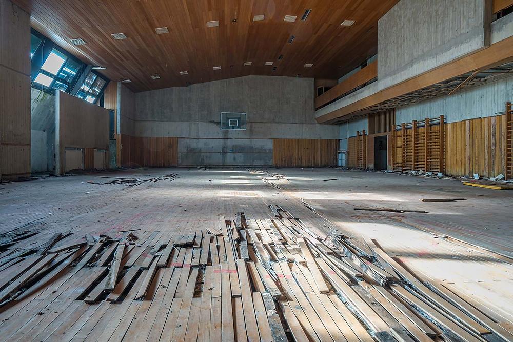 Abandoned gym hall