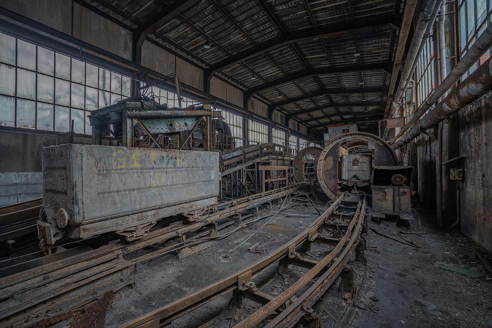 Mineurs W - Abandoned coal mine in France