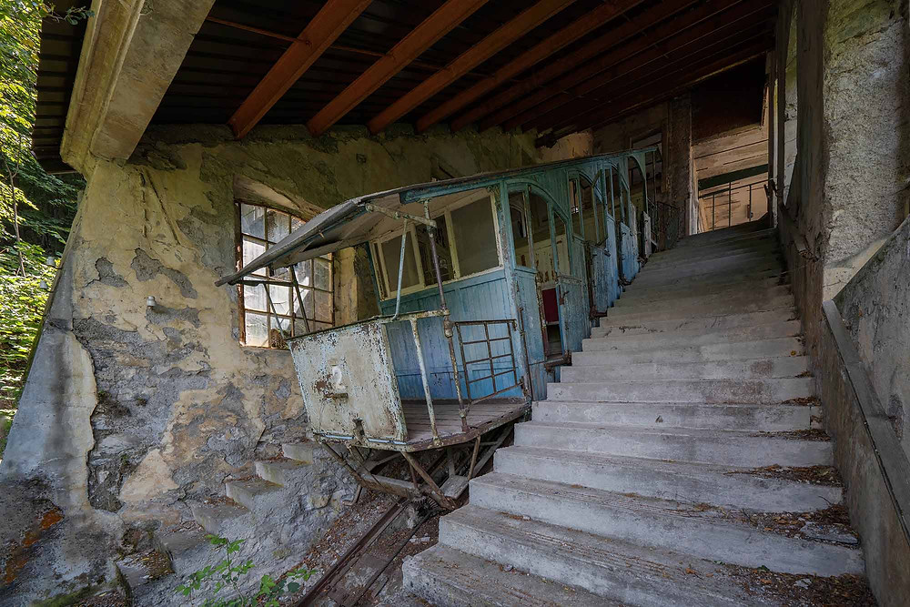 Abandoned funicolare in Italy