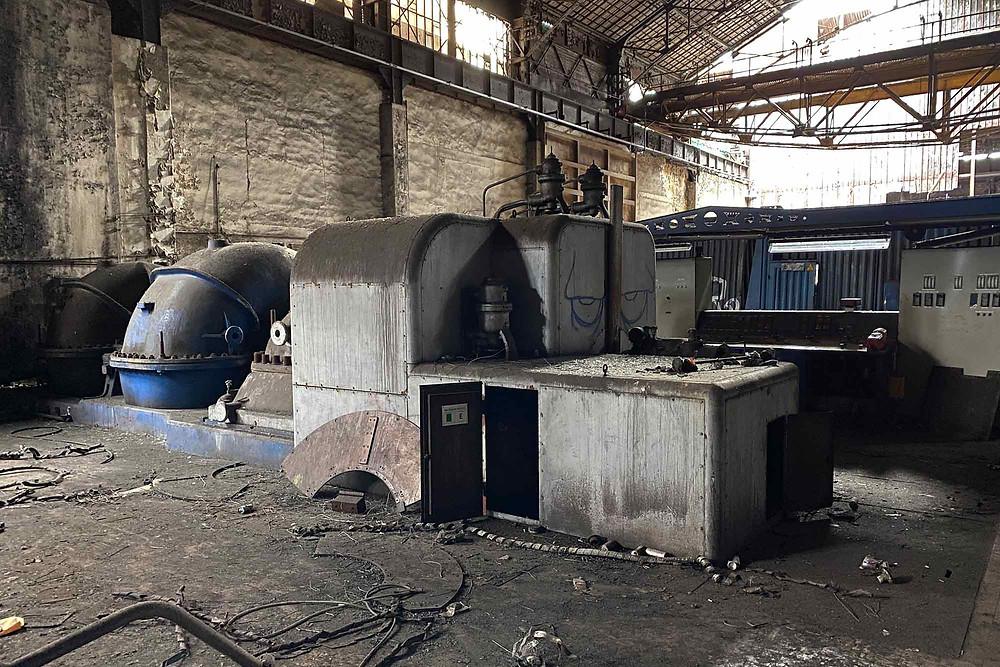 Kraftværket på forladt stålværk i Belgien
