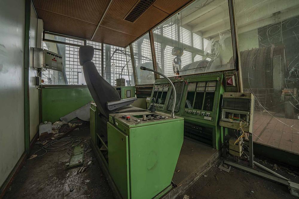 Abandoned hoist room in Zeche DB