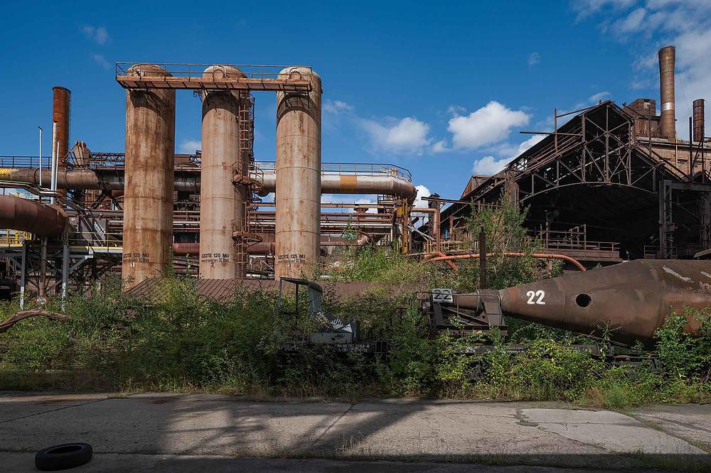 forladt stålværk HFB i Belgien