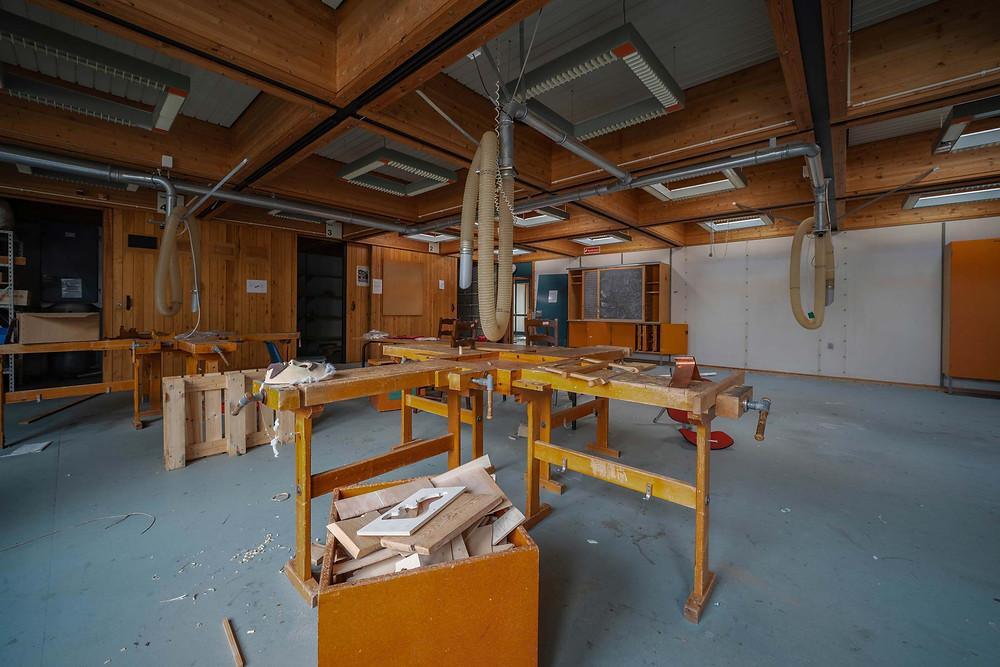 abandoned school in Denmark