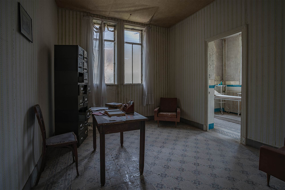 Doctors room in abandoned spa