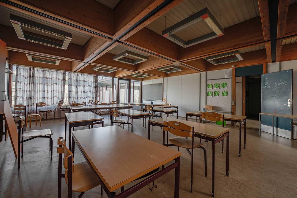 Klasselokaler på Tjørnelyskolen