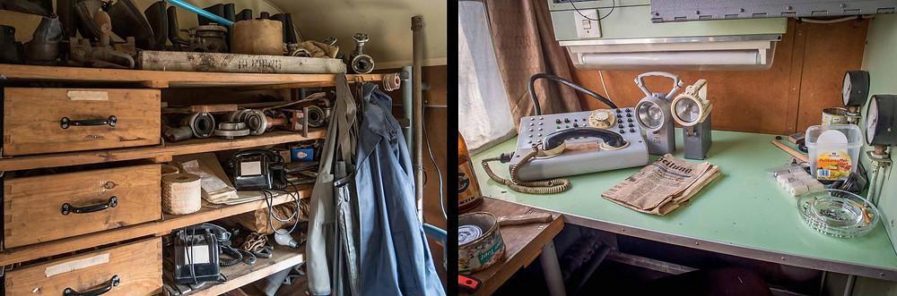 Abandoned DDR katastrophenzug technical room