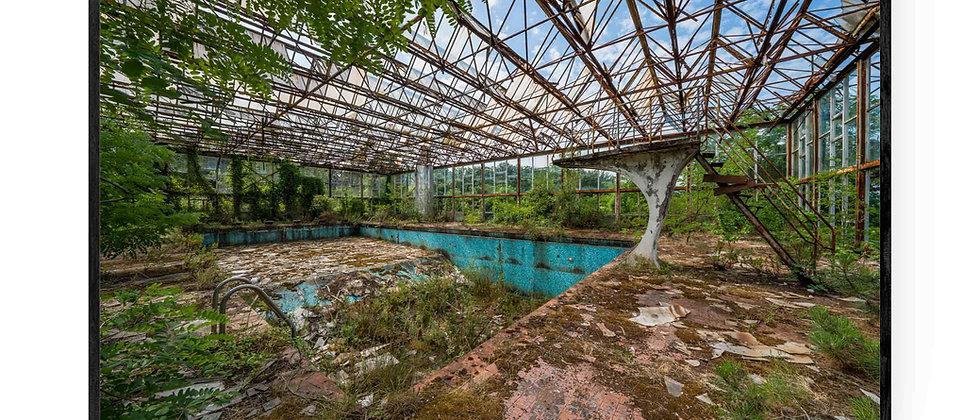 Fotokunst print af Greenhouse Pool i 75x50 cm uden ramme