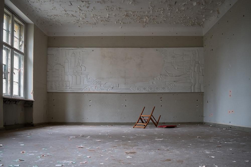 Soviet art abandoned military complex