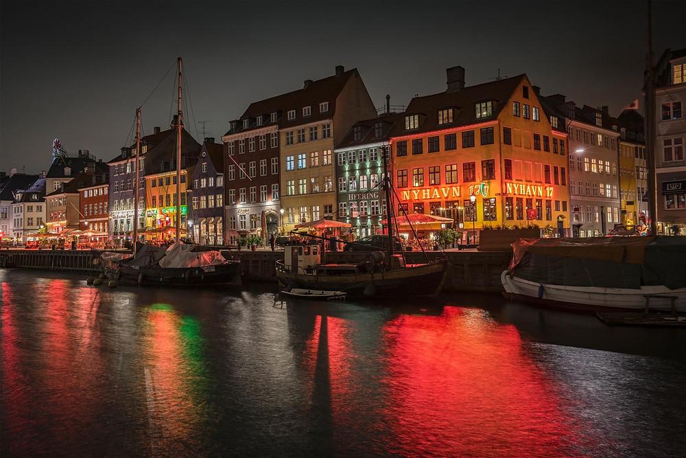 Photographic art of Nyhavn Copenhagen